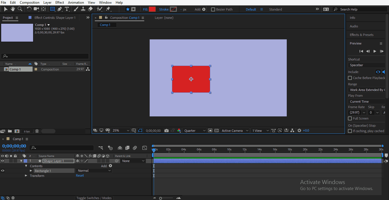 Shape Layer in After Effects 1-6