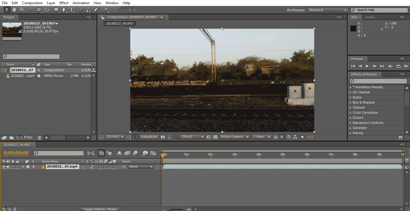 Slow Motion in After Effects 1-2