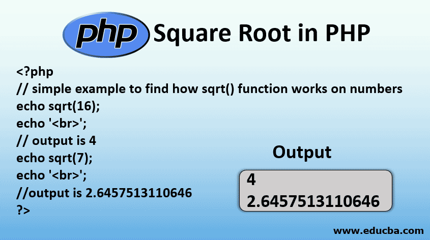 Square Root in PHP