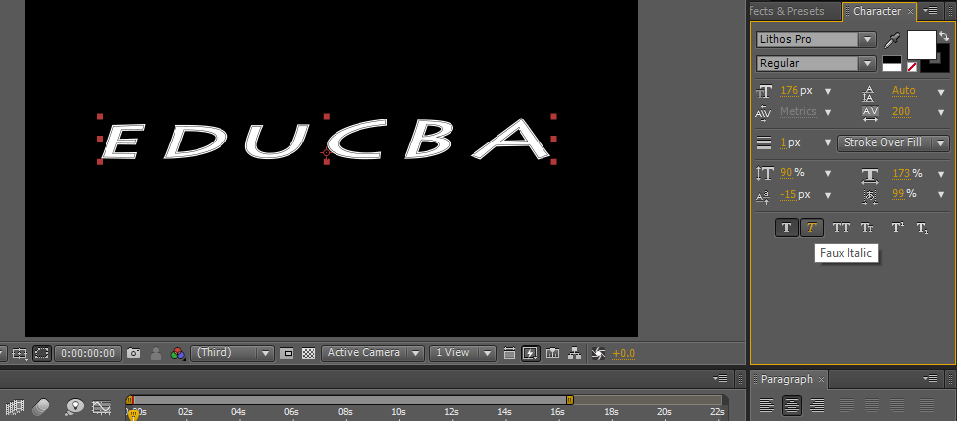 Text in After Effects 1-15