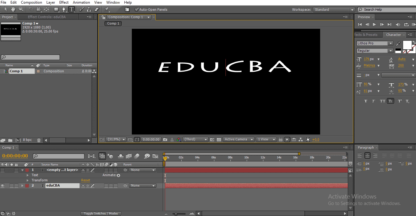 Text in After Effects 1-16