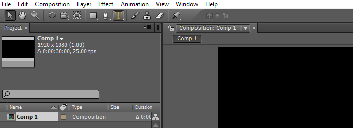 Text in After Effects 1-2