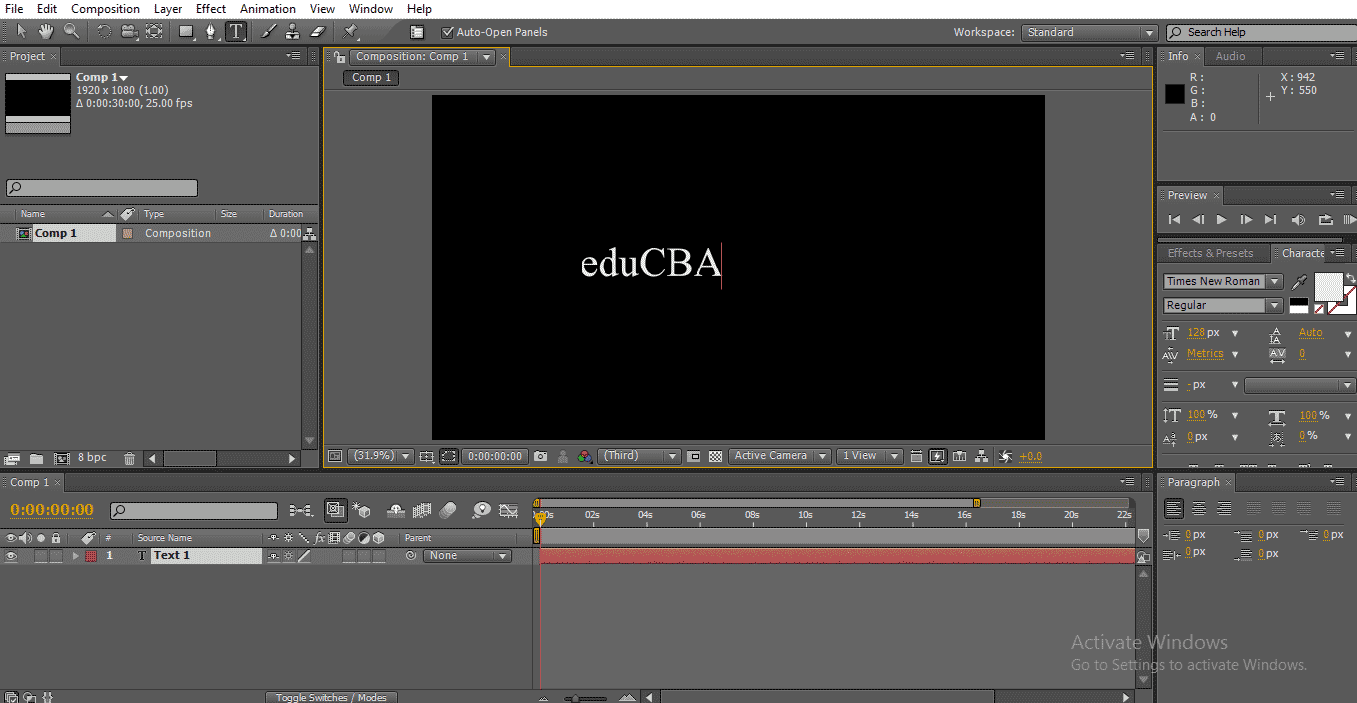 Text in After Effects 1-3