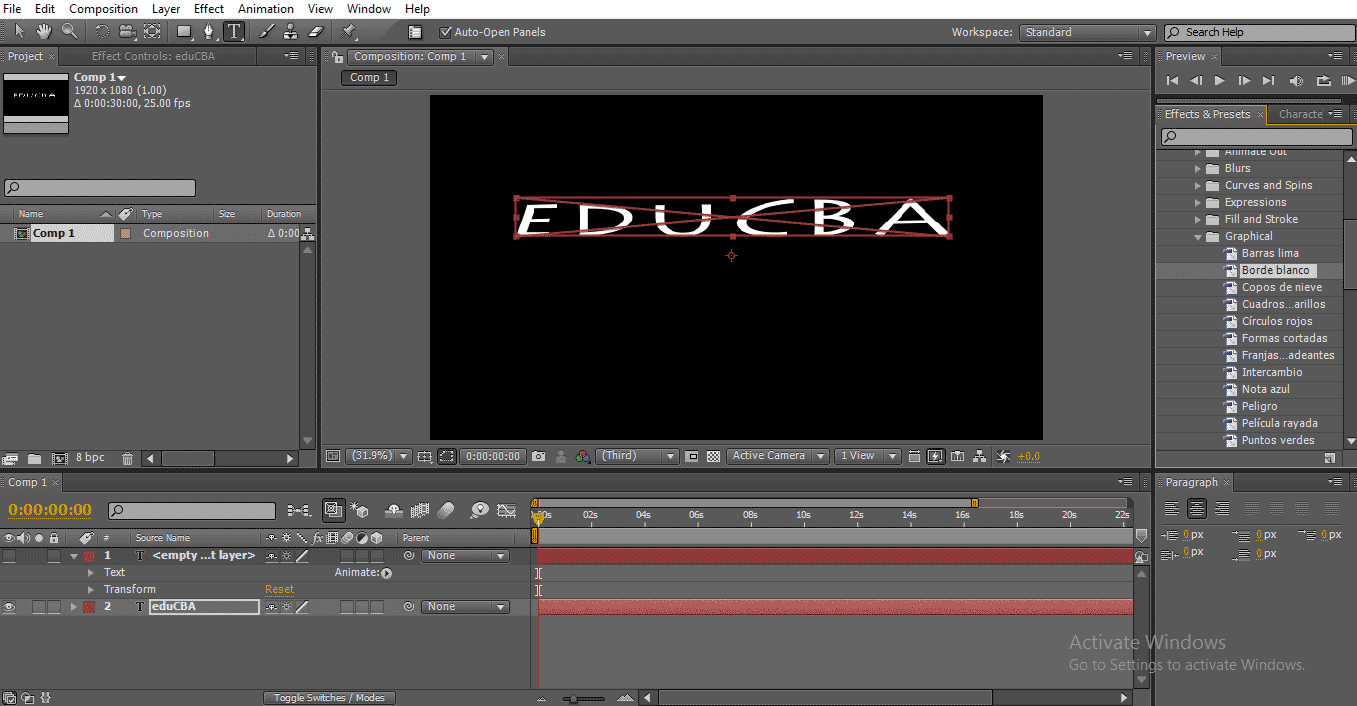 Text in After Effects 1-30