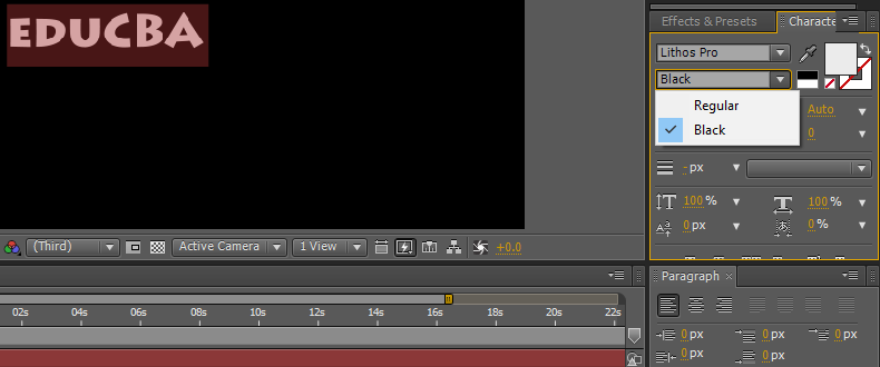 Text in After Effects 1-5