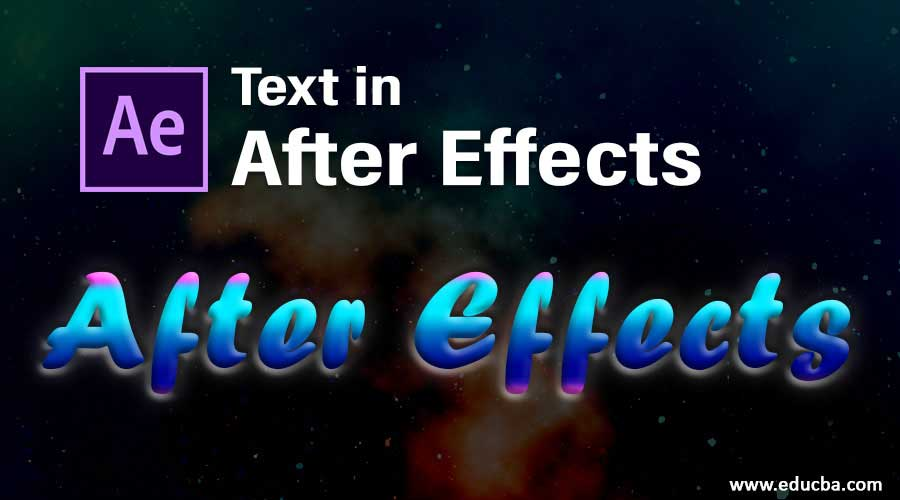 Text in After Effects