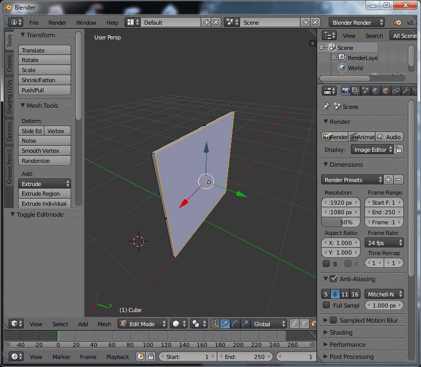 Blender Transform mode