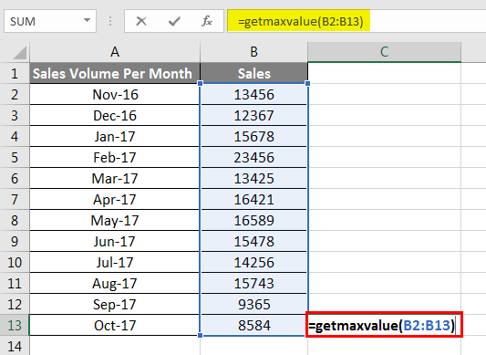 getmaxvalue Example 4-4