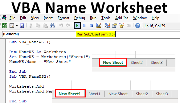 VBA Name Worksheet