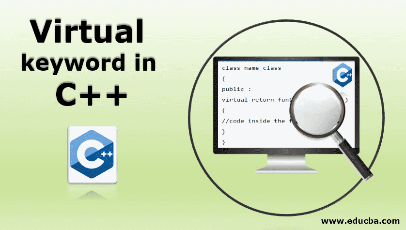 Virtual keyword in c++
