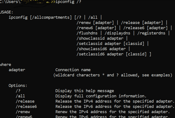Windows Networking Commands ipconfig 2
