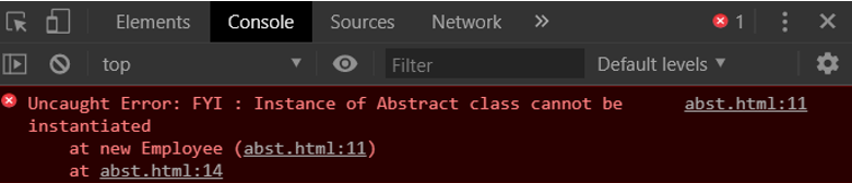abstract class in javascript
