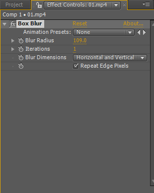 blur in after effects 9