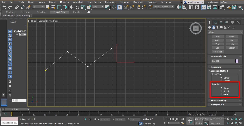 data type (Spline in 3ds Max)