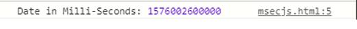 date in milli
