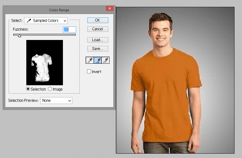 Fuzziness Level (How to Change Shirt Color in Photoshop?)