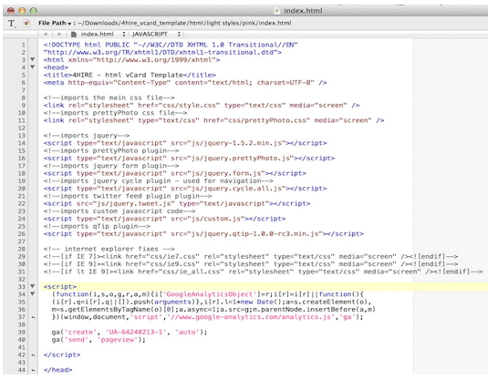 Google Analytics - HTML Code