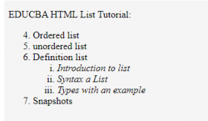 html ordered list op5