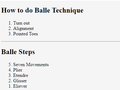 Balle Technique