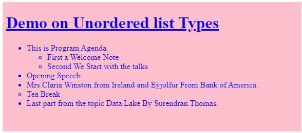 html unordered list op3
