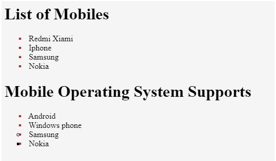 html unordered list op5