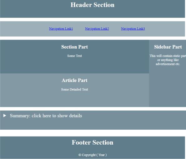 HTML Layout 7