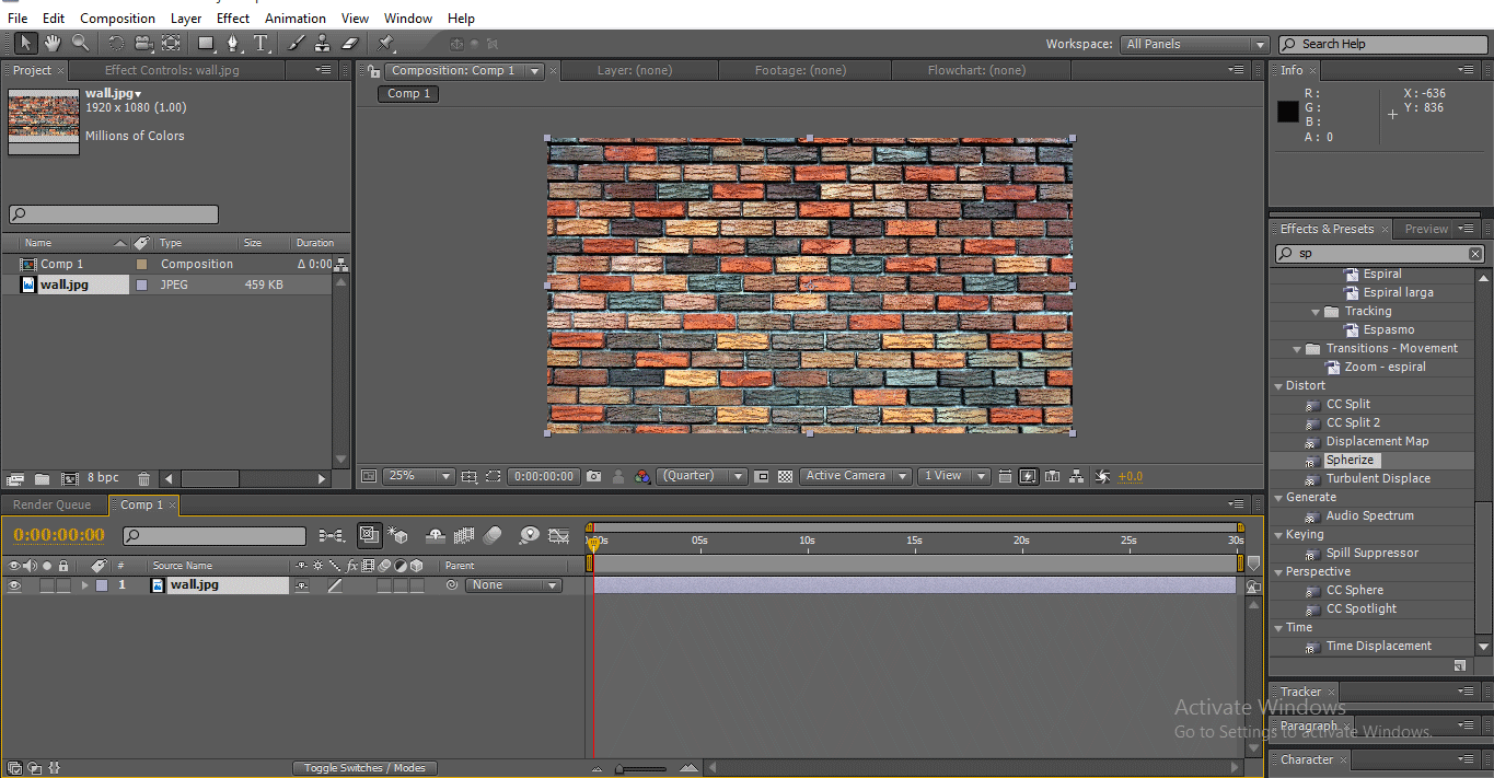 Import to timeline (3D Effects in After Effects)