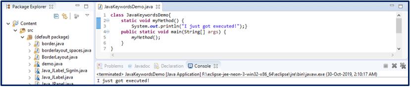 Java Keywords