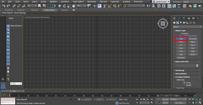 line command2 (Spline in 3ds Max)