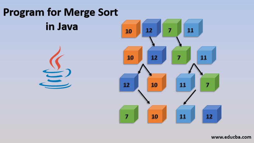 program for merge sort in java