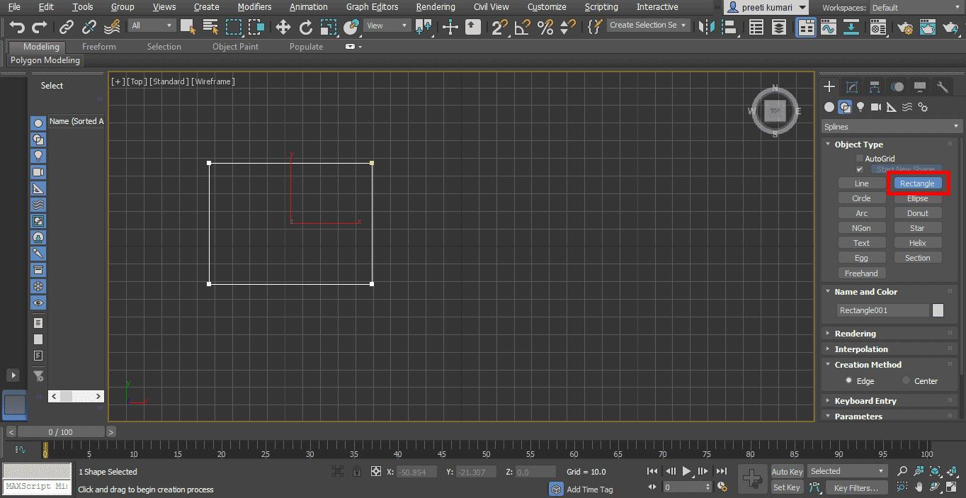 rectangle tab