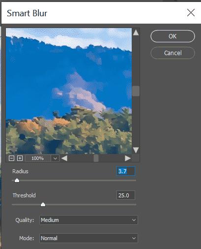 smart blur setup
