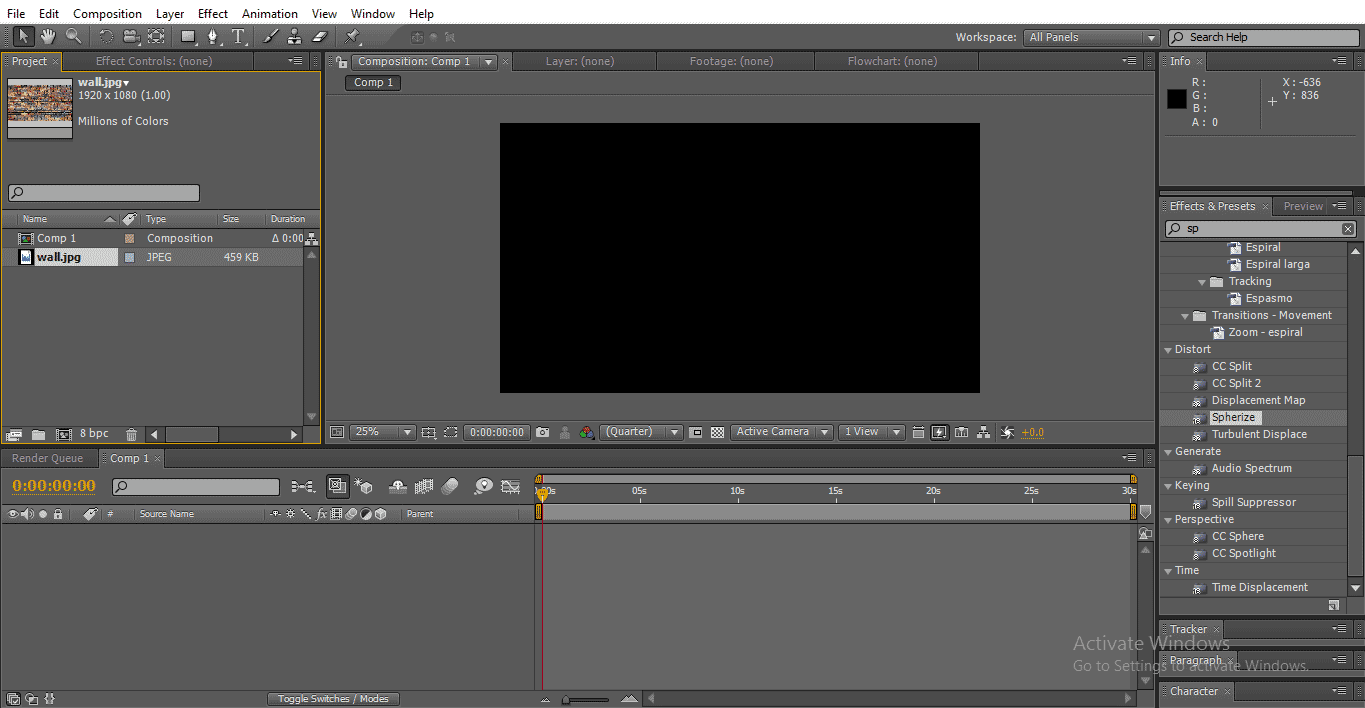 texture image (3D Effects in After Effects)
