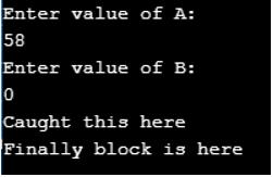 thrw keyword in java