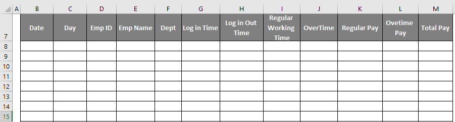 Excel Timesheet Template - time sheet excel 3