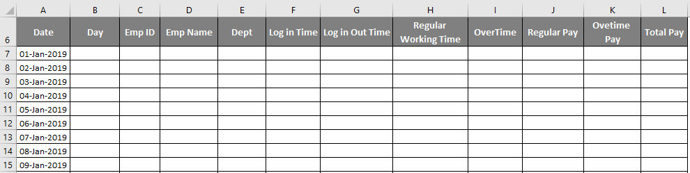 Excel Timesheet Template - time sheet in excel 1-4