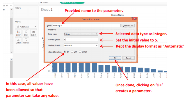 Parameters in Tableau