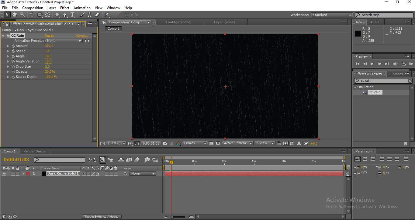 Applying Effects - Solid Layers