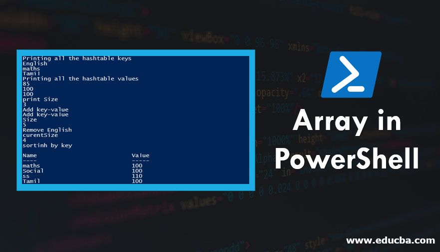 Array in PowerShell