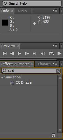 CC Drizzle Effect