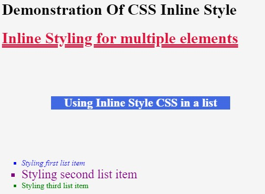 Styling a list in HTML