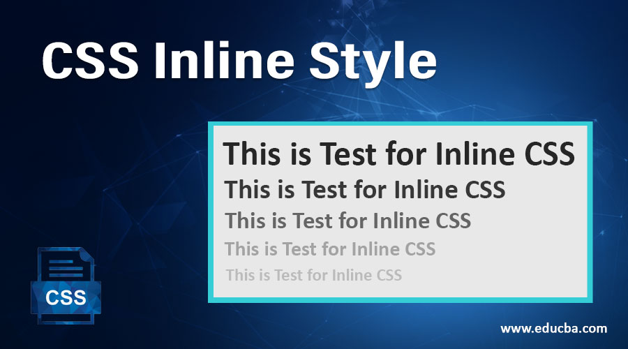 CSS Inline Style
