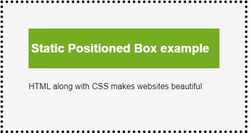 CSS Position eg1