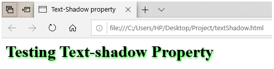CSS for Text-Shadow output 1