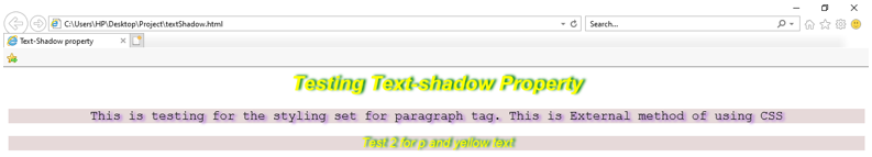 CSS for Text-Shadow output 2