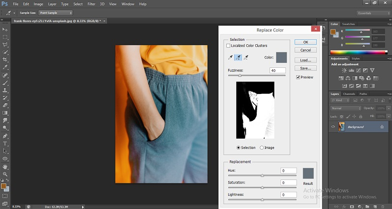 Change Color in Photoshop 1-14