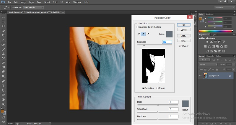 Change Color in Photoshop 1-15