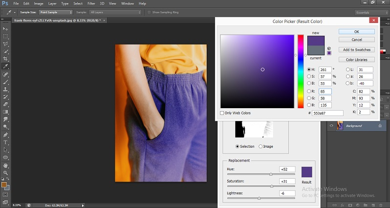 Change Color in Photoshop 1-16