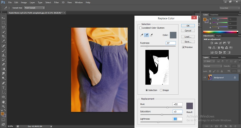 Change Color in Photoshop 1-17