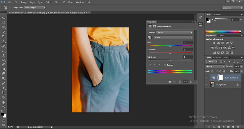 Change Color in Photoshop 1-5
